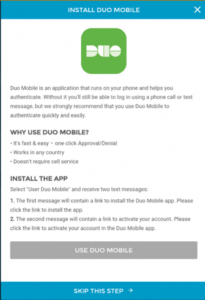 duo app installation screen
